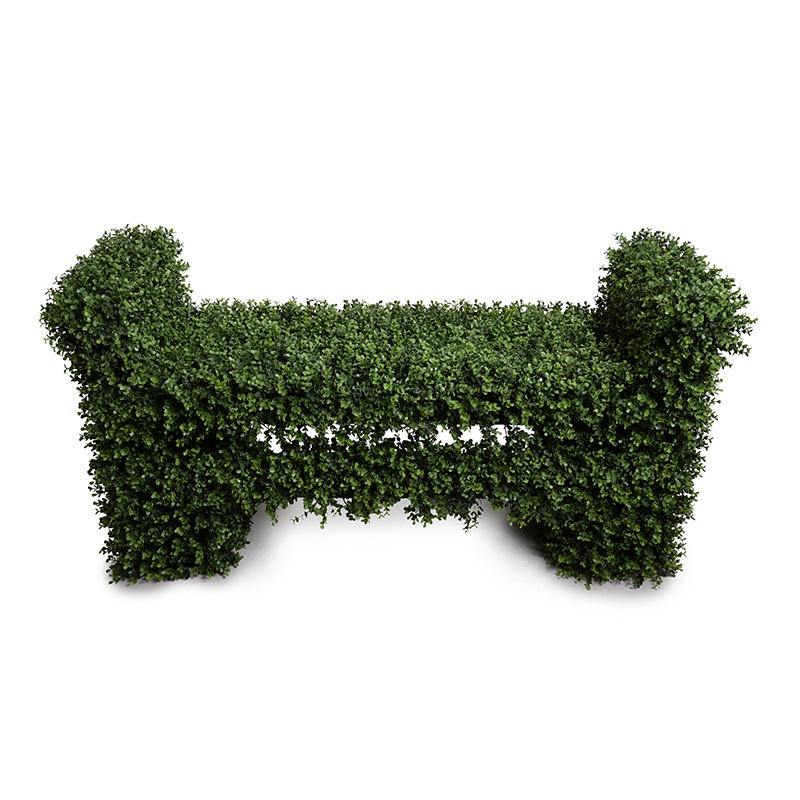 Boxwood Covered Garden Bench - New Growth Designs
