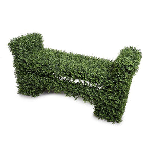 Boxwood Covered Garden Bench