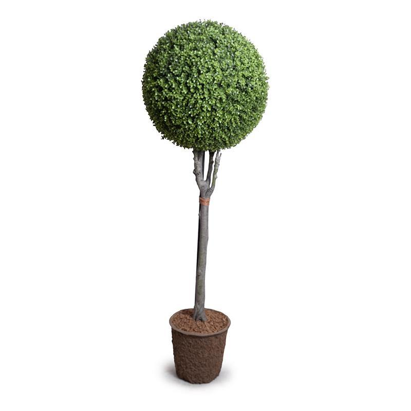 "22"" Boxwood Ball Topiary, 68""H"