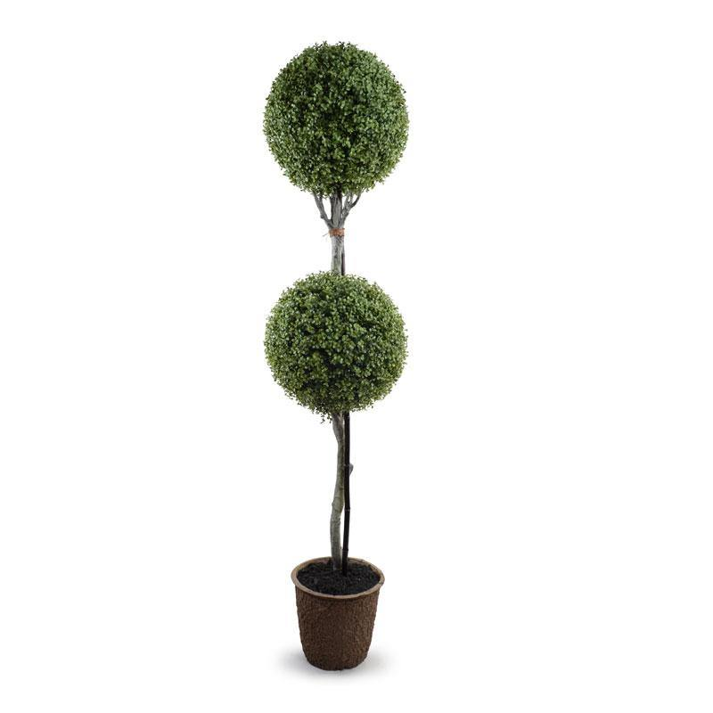 "15"" Boxwood Double Ball Topiary - New Growth Designs"
