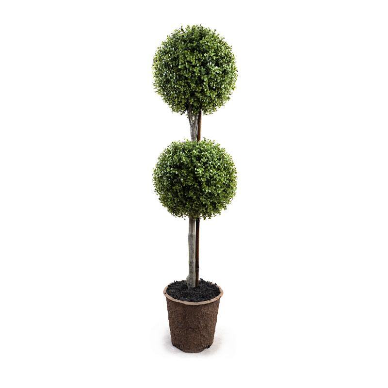 "11"" Boxwood Double Ball Topiary - New Growth Designs"