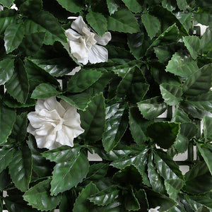 "21"" Gardenia Mat With White Flowers"