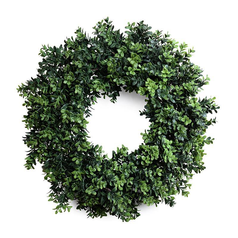 "22"" Enduraleaf Boxwood Shrub Wreath"