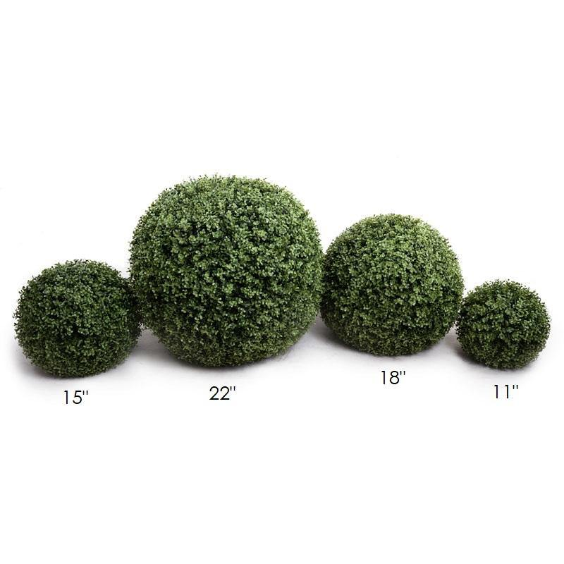 "15"" Boxwood Ball, Case of 2 - New Growth Designs"