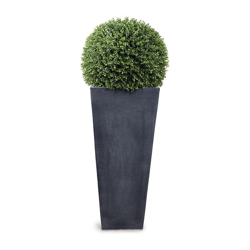"18"" Boxwood Ball in Tapered Pot, 47""H"
