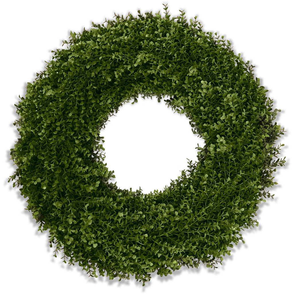 "26"" Enduraleaf Boxwood Double-sided Wreath"