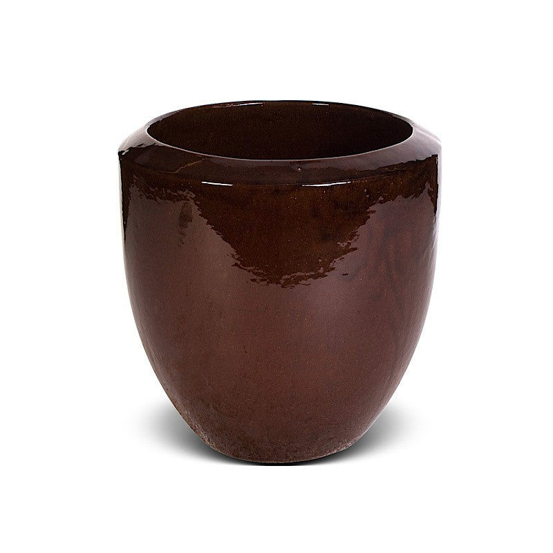 "Glazed Terracotta Planter - 15""D"