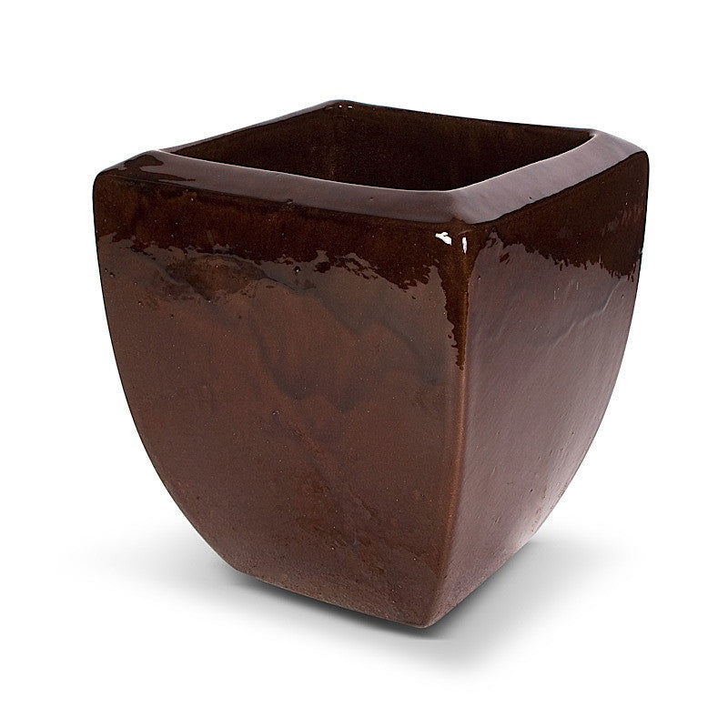"Glazed Terracotta Tree Planter - 13""W"