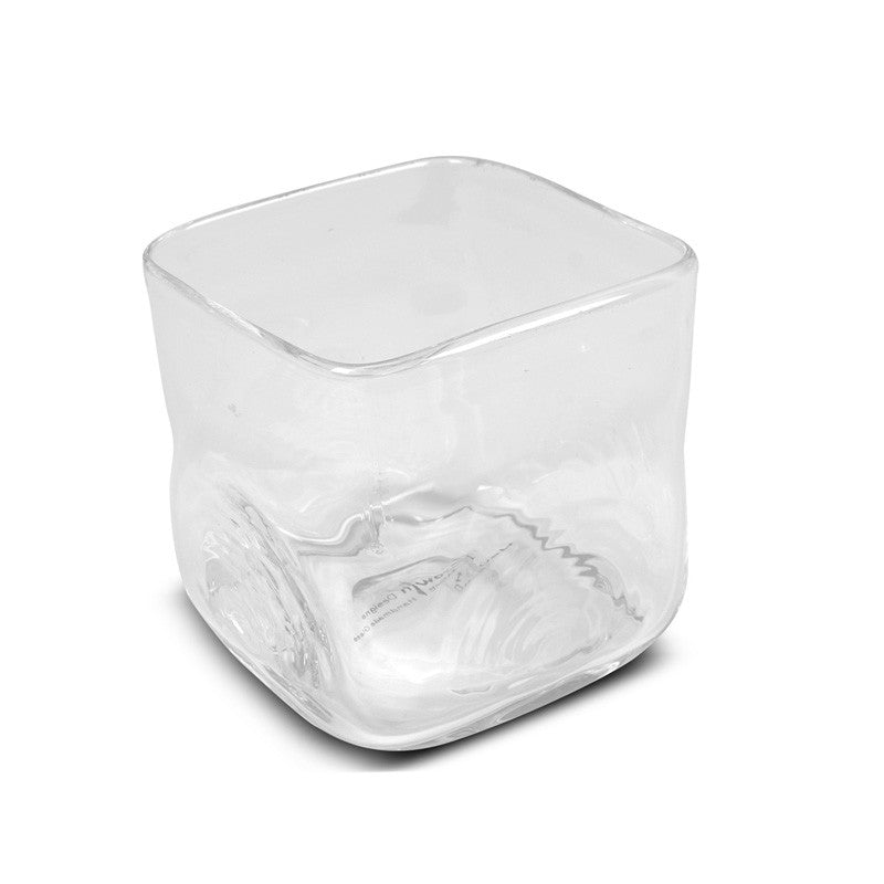 "Glass Vase, 3"" Cube - New Growth Designs"
