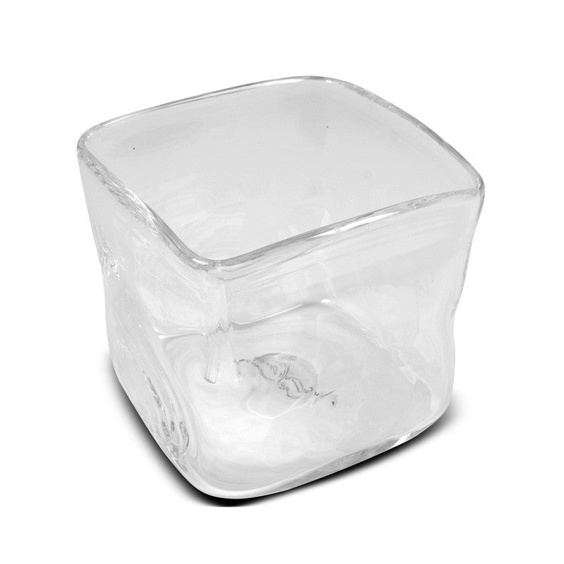 "Glass Vase, 7"" Cube - New Growth Designs"