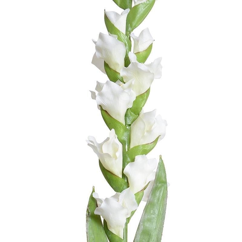 "Gladiolus Flower Stem, 48"" L - White"