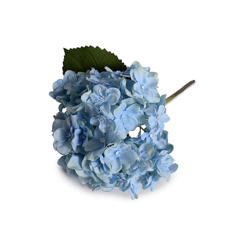 Hydrangea Stem with Leaf - Blue