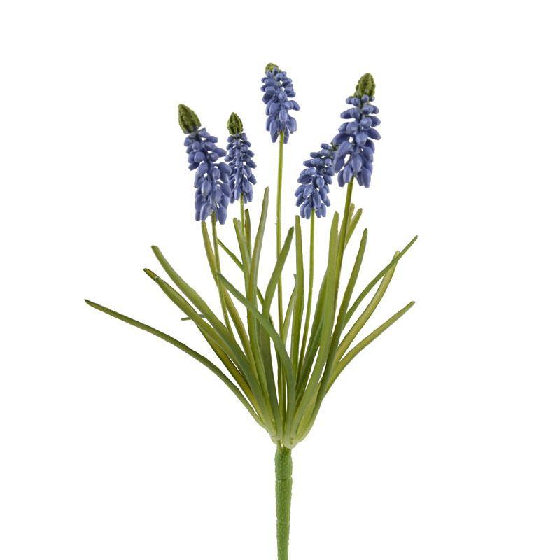 "Grape Hyacinth Spray, 12.5""L - Light Blue - New Growth Designs"