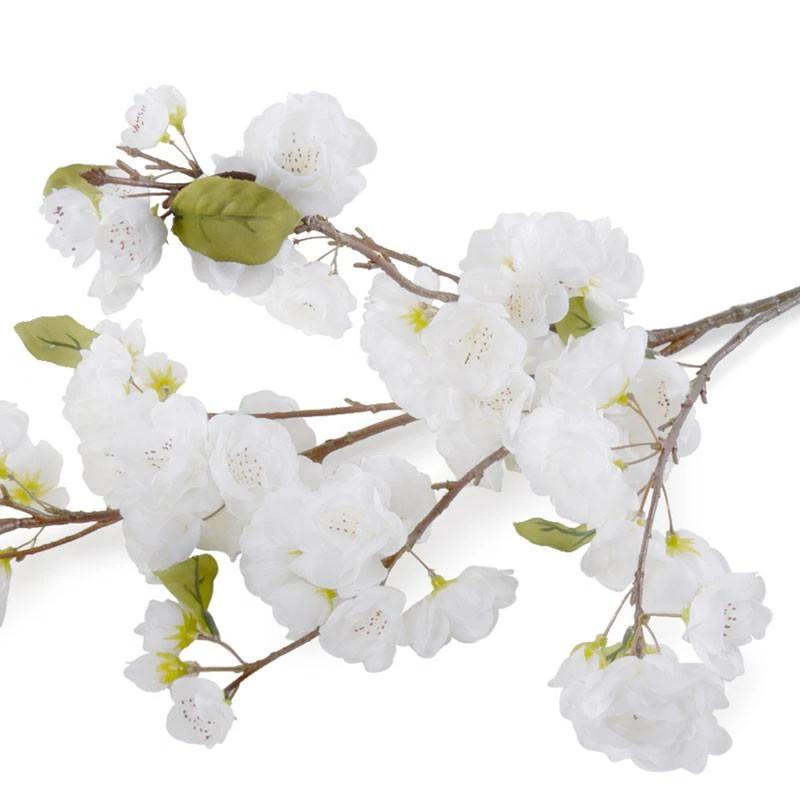 "Cherry Blossom Large Branch, 55"" L - White"