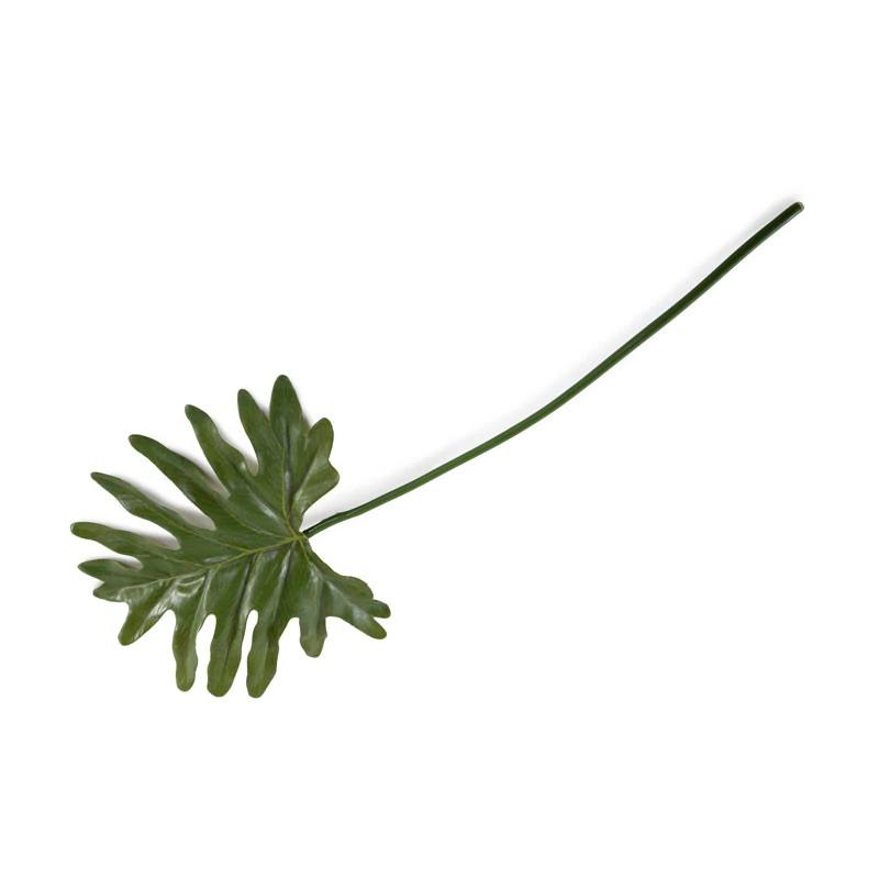 "Philodendron Monstera Leaf, 18"" L"
