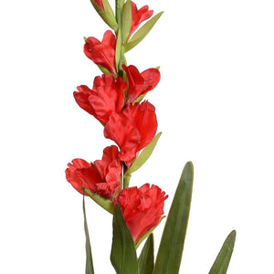 "Gladiolus Flower Stem, 48"" L - Red"