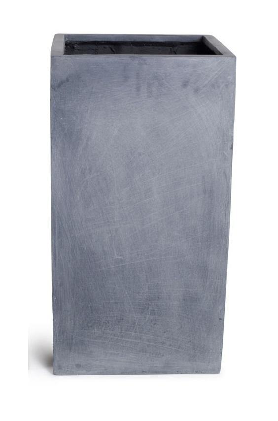 "Fiberglass Column Planter with Lead Finish - 16""W"