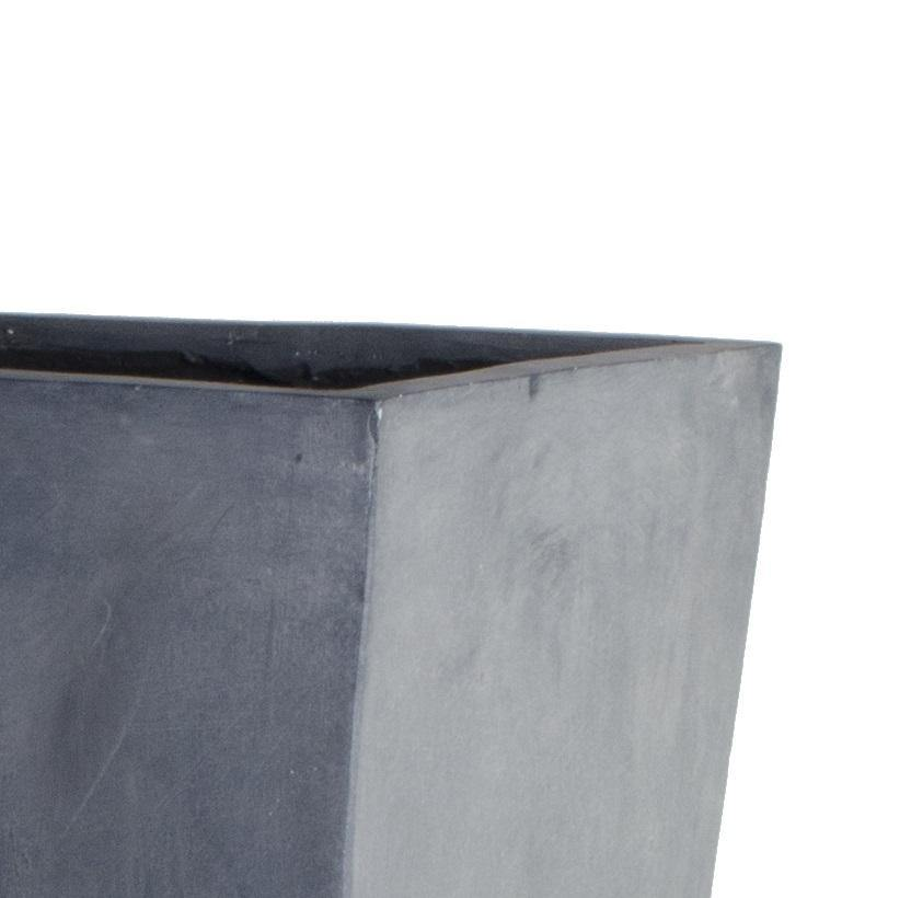 "Fiberglass Tapered Column Planter with Lead Finish - 15.5""W - New Growth Designs"