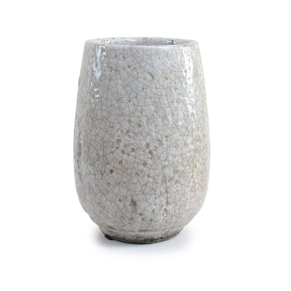 Round Tapered Clay Vase
