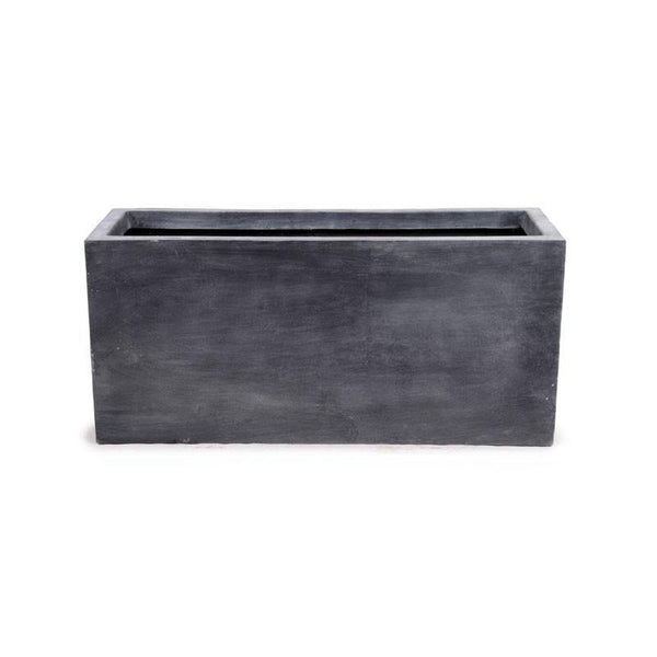 "Fiberglass Rectangle Planter, 45""L"
