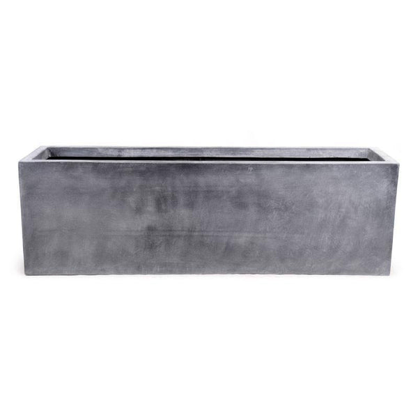 "Fiberglass Rectangle Planter, 65""L"
