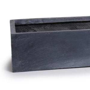 "Fiberglass Tabletop Rectangle Planter - 28""L"