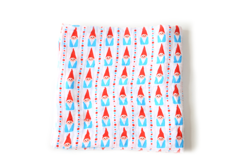 Go Big or Go Gnome Cotton Swaddle