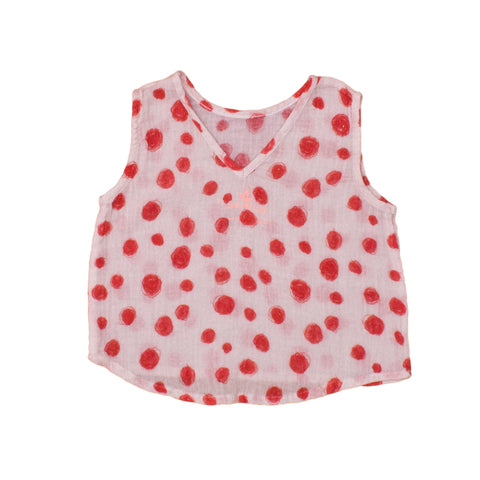 Noe & Zoe Red Circles Top