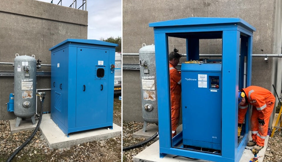 recommissioning of an air compressor on site