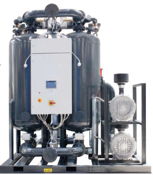 HEATED DESICCANT COMPRESSED AIR DRYERS