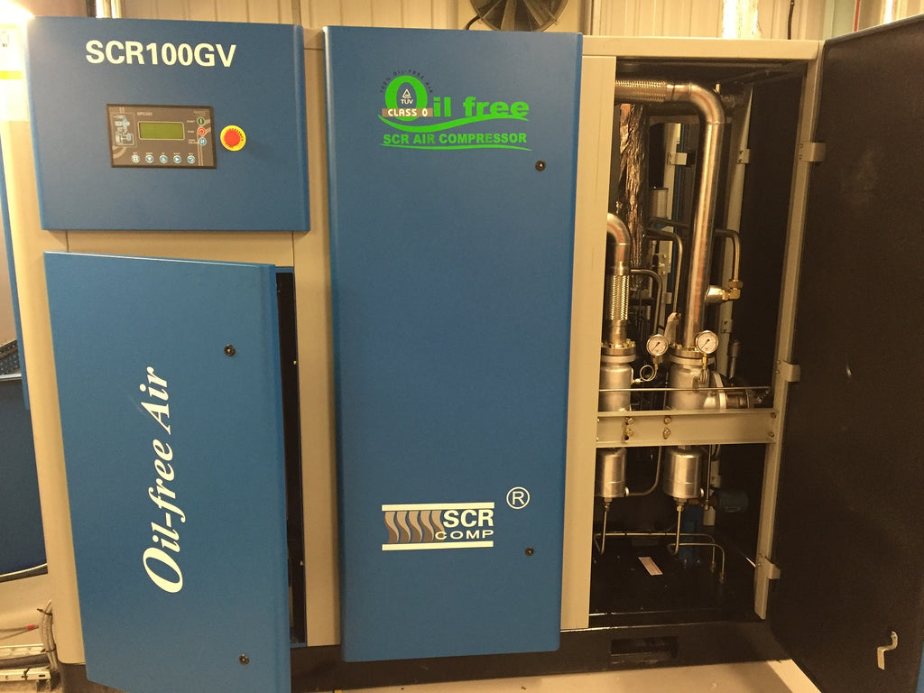 SCR OIL FREE GV RANGE OF VSD CONTROLLED COMPRESSORS