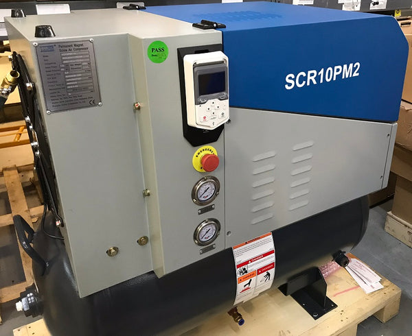 SCR air compressor with ABB ACS480 drive & keypad fitted