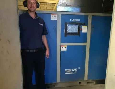 SCR air compressor installation no 700 in Australia