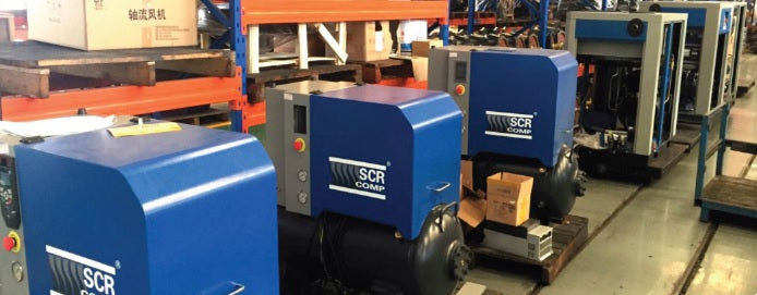 scr compressor assembly line