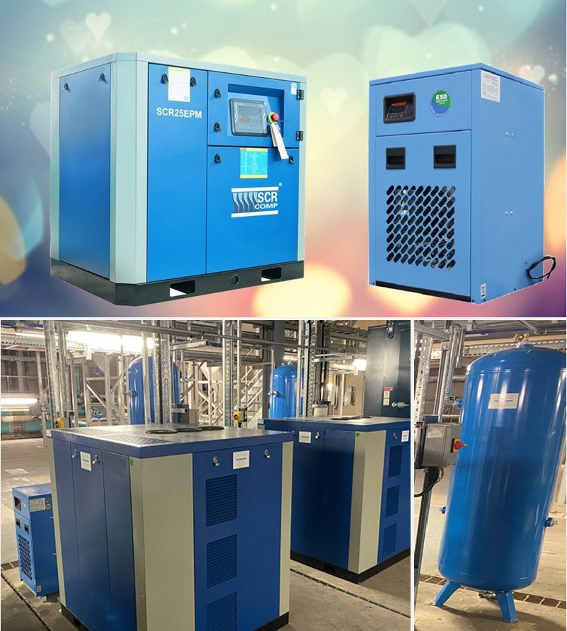air compressors, receivers and dryer packages