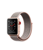 Apple Watch Series 3 - Gold Aluminum Case with Pink Sand Sport Loop - GPS + Cellular - MediaCenter