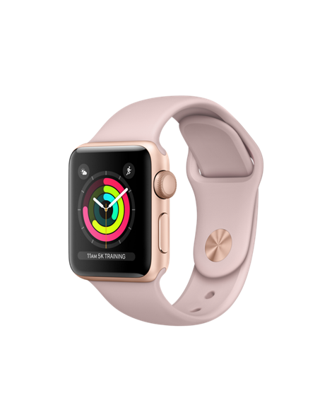 Apple Watch Series 3 - Gold Aluminum Case with Pink Sand Sport Band - GPS