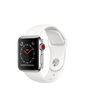 Apple Watch Series 3 - Stainless Steel Case with Soft White Sport Band - GPS + Cellular