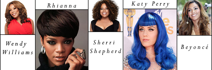 Celebrities and wigs