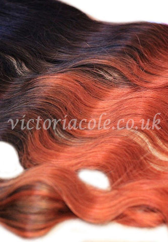 "12"" Cambodian Body Wave Ombre 1B/4/350 Virgin Hair"
