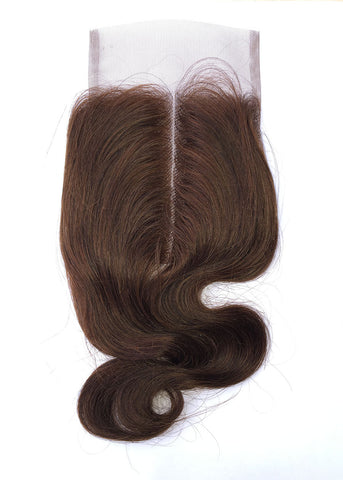 "Mongolian Loose Jerry 10"" Ombre Lace Closure  #4 Brown"