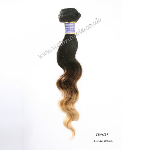 "14"" 1B/4/27 Ombre Loose Wave 8A Grade Virgin Hair"