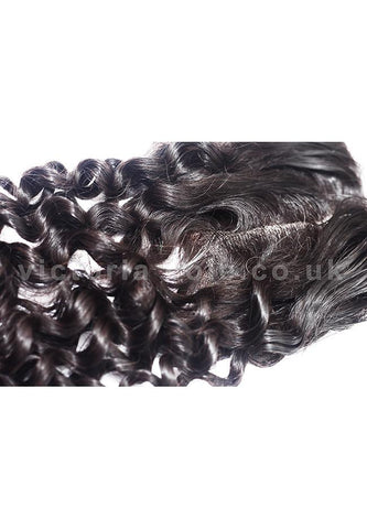 "12"" Loose Jerry Lace Closure  1B Natural Black"