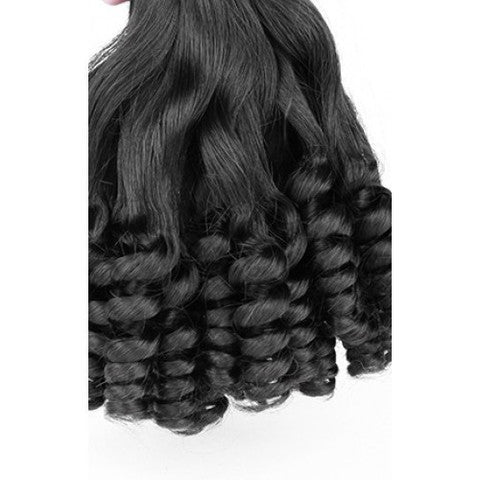 "Mongolian Curl Tip Hair 22""+24""+26""+28""+ Lace Closure 16"" bundle - 12A"