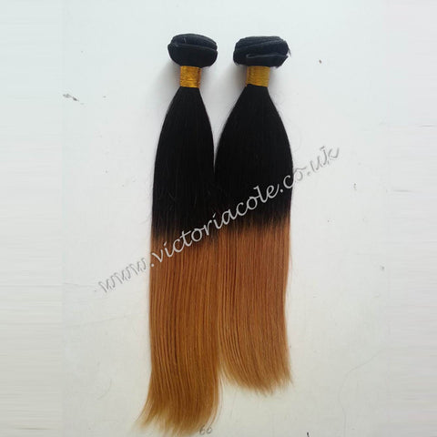 "Peruvian Hair Straight Ombre 1B/33 -8"" Extensions"