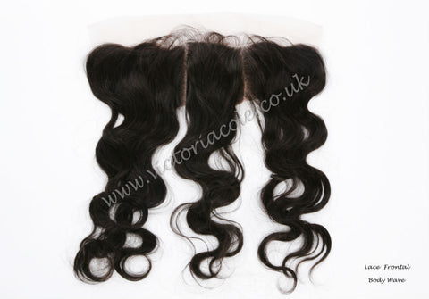 "12"" Body Wave Lace Frontal #1B - Natural Black"