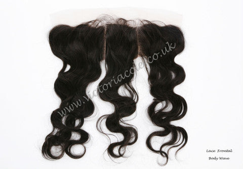 "20"" Body Wave Lace Frontal #1B - Natural Black"