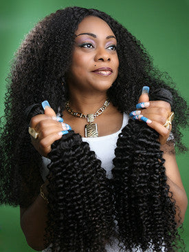 "Mongolian Loose Jerry Hair 22""+24""+26""+28"" Bundle"