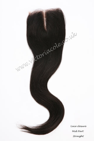 Straight Lace Closure 10""