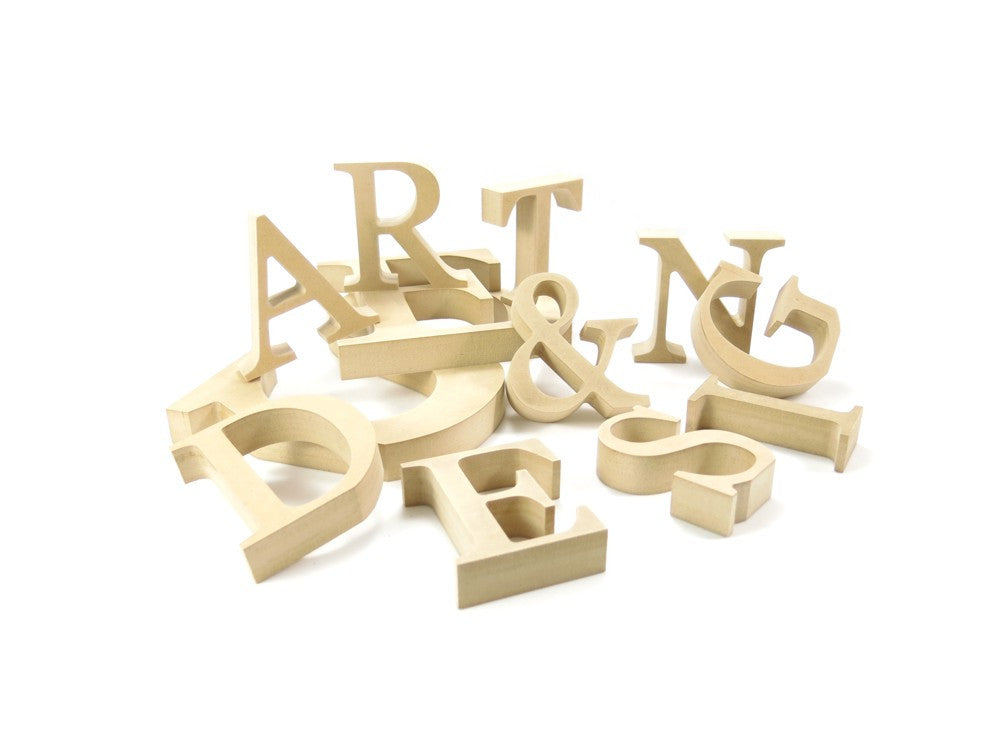 25cm 10 free standing wooden letters numbers and for Standing wood letters to paint